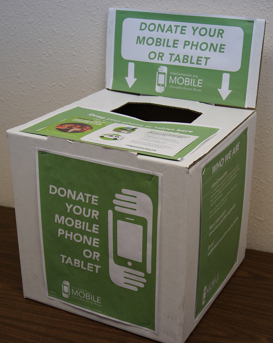 Cell phone and tablet collection box