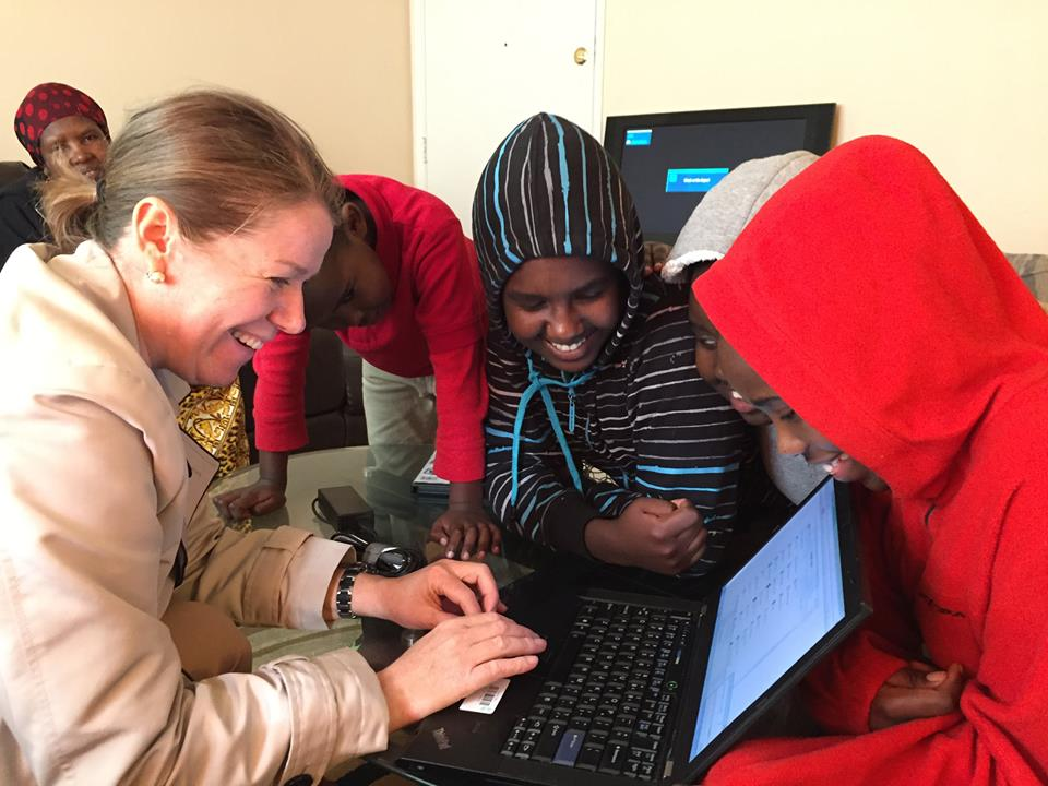 International Rescue Committee in Seattle was awarded 8 laptops to be used for assist refugee families with job search and education.